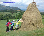 Hiking in Carpathians mountains, Family trekking holiday in Romanian mountains.